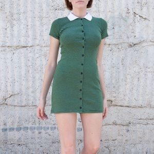 Brandy Melville Green Caroline Dress